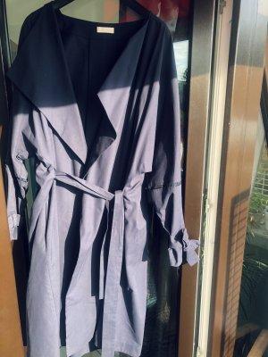 Nobi Talai Luxus One Size WickelMantel Mantelkleid Sommermantel dunkelblau Kimono langarm XS S M L XL