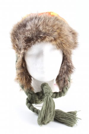 Nobis Knitted Hat abstract pattern casual look