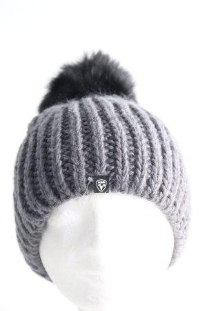 Nobis Sombrero de punto gris claro punto trenzado look casual