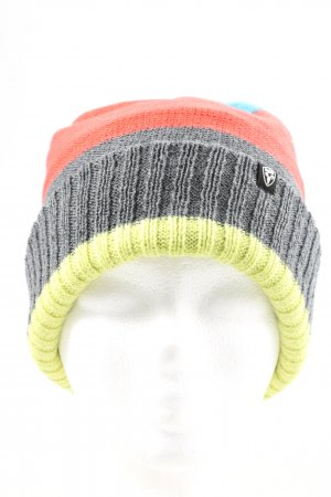 Nobis Knitted Hat striped pattern casual look