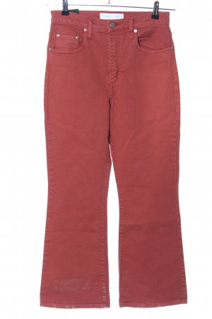Hoge taille jeans rood casual uitstraling
