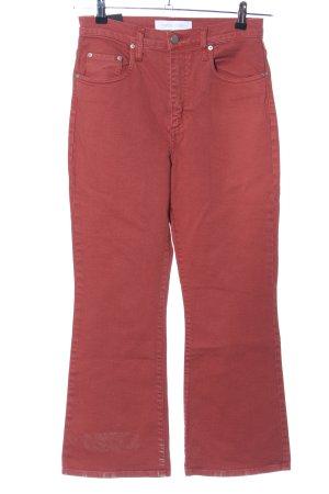 nobody denim Hoge taille jeans licht Oranje casual uitstraling
