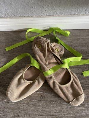 Nobrand Ballerinas echt Leder Satinband zum binden Gr. 37/38 Np 129€