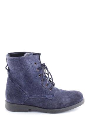 Nobrand Schnür-Stiefeletten blau Casual-Look