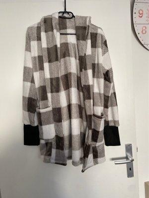 Sheinside Wool Jacket white-grey brown