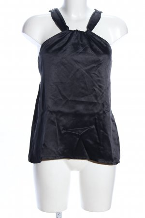 Nocollection Halter Top black wet-look