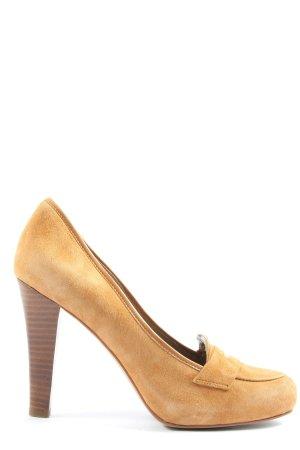 Noe High Heels hellorange Casual-Look