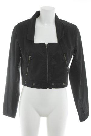 NÖR Denmark Übergangsjacke schwarz-silberfarben Casual-Look