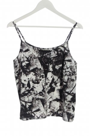 Noisy May Cropped top zwart-wit volledige print casual uitstraling