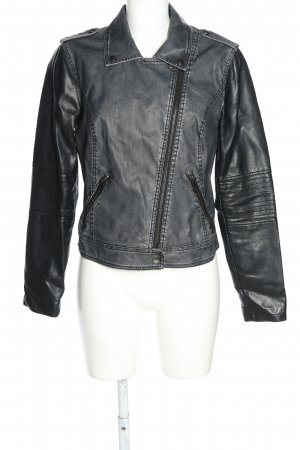 Noisy May Bikerjacke hellgrau-schwarz Casual-Look