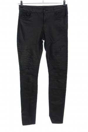 Noisy May Jeans da motociclista nero stile casual