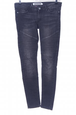 Noisy May Jeans da motociclista blu stile casual