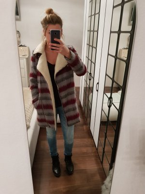 Noisy May Fake Fur Jacket multicolored