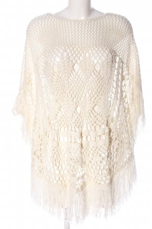 Noisy May Poncho wolwit casual uitstraling