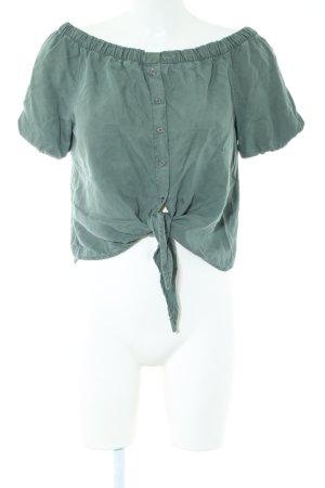 Noisy May Carmen-Bluse grün Casual-Look