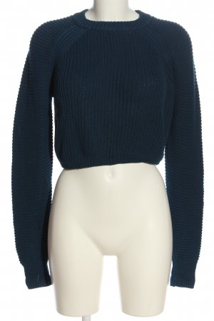 Noisy May Cropped Pullover blau Casual-Look