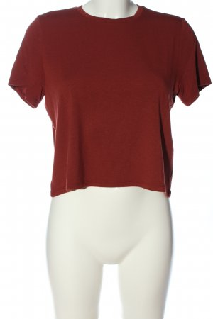 Noisy May Cropped shirt rood casual uitstraling