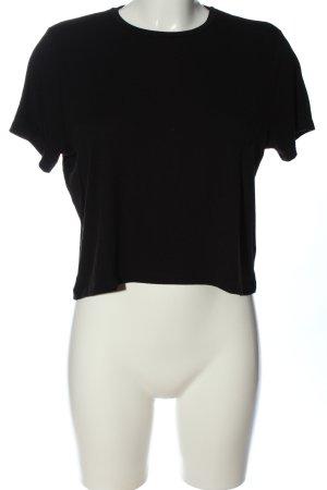 Noisy May Cropped shirt zwart casual uitstraling