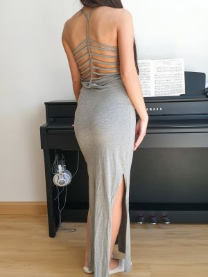 Noisy May Cut Out Dress light grey-grey