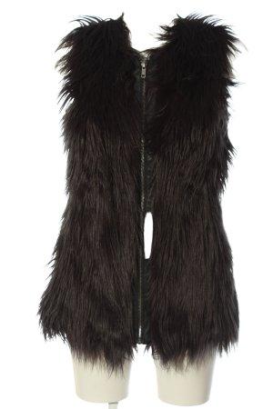 Noisy May Fur vest black casual look