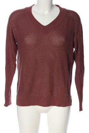 Noisy May Szydełkowany sweter brązowy W stylu casual