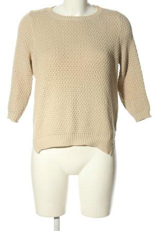 Noisy May Szydełkowany sweter w kolorze białej wełny W stylu casual