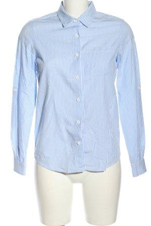 Noisy May Hemd-Bluse blau-weiß Streifenmuster Casual-Look