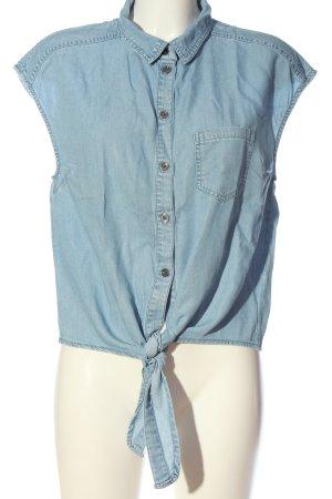 Noisy May Hemd-Bluse blau Casual-Look