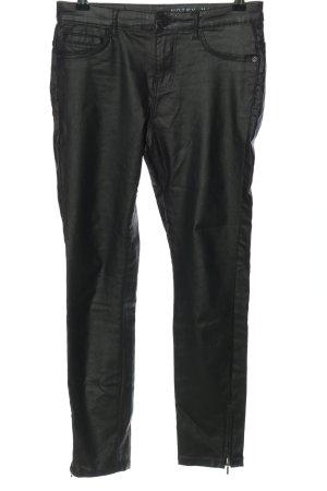 Noisy May Spodnie z wysokim stanem czarny W stylu casual