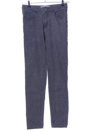Noisy May Jeans a vita alta grigio chiaro stile casual
