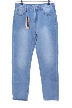 Noisy May Jeans a vita alta blu stile casual
