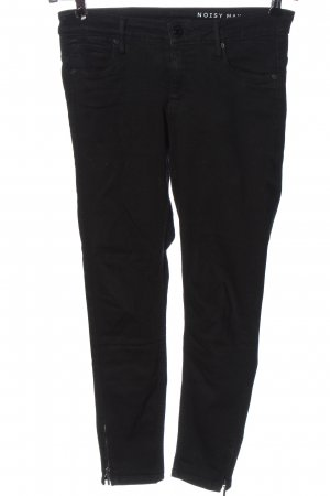 Noisy May Jeans a vita alta nero stile casual