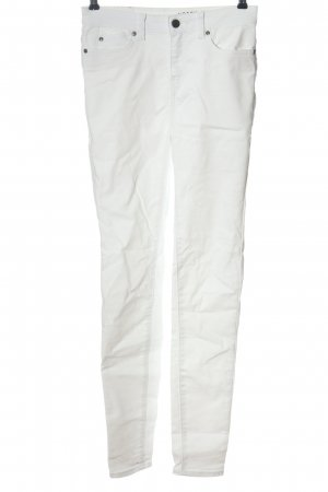 Noisy May Jeans a vita alta bianco stile casual