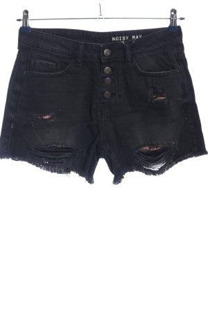 Noisy May High-Waist-Shorts schwarz Casual-Look