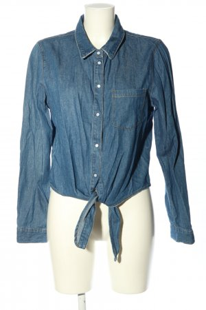 Noisy May Jeansbluse blau Casual-Look