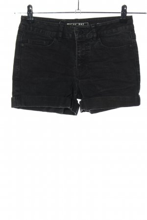 Noisy May Pantaloncino di jeans nero stile casual