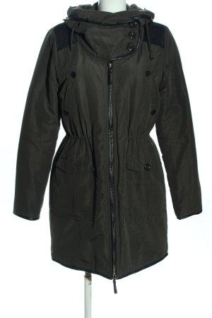 Noisy May Manteau à capuche kaki style décontracté