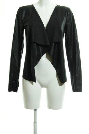 Noisy May Faux Leather Jacket black elegant