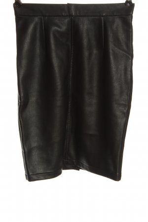 Noisy May Faux Leather Skirt black wet-look