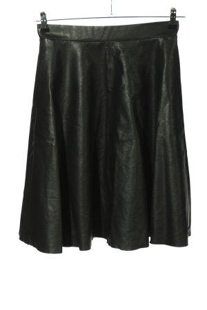 Noisy May Falda de cuero de imitación negro look casual