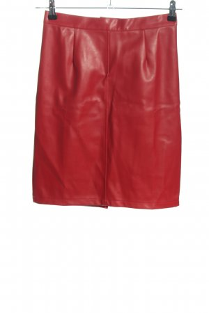 Noisy May Faux Leather Skirt red elegant