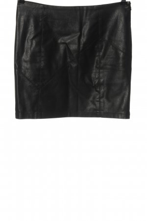 Noisy May Faux Leather Skirt black casual look