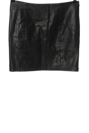 Noisy May Jupe en cuir synthétique noir style décontracté