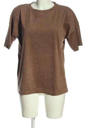 Noisy May T-shirt marrone stile casual