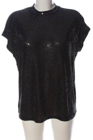 Noisy May Kurzarm-Bluse schwarz Elegant