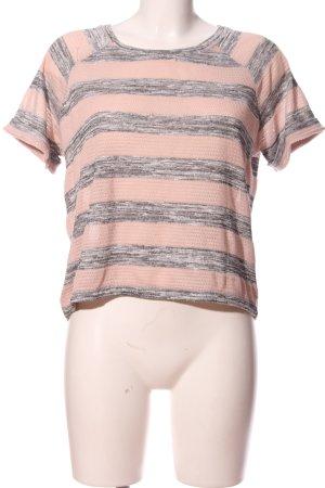 Noisy May Kurzarm-Bluse pink-hellgrau meliert Casual-Look