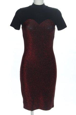 Noisy May Kurzarmkleid rot-schwarz Elegant