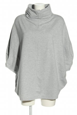 Noisy May Short Sleeve Sweater light grey flecked casual look