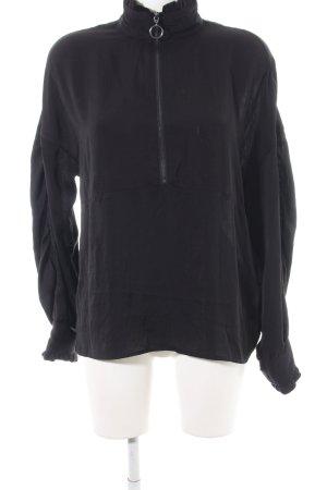 Noisy May Langarm-Bluse schwarz schlichter Stil