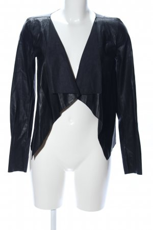 Noisy May Blazer de cuero negro look casual